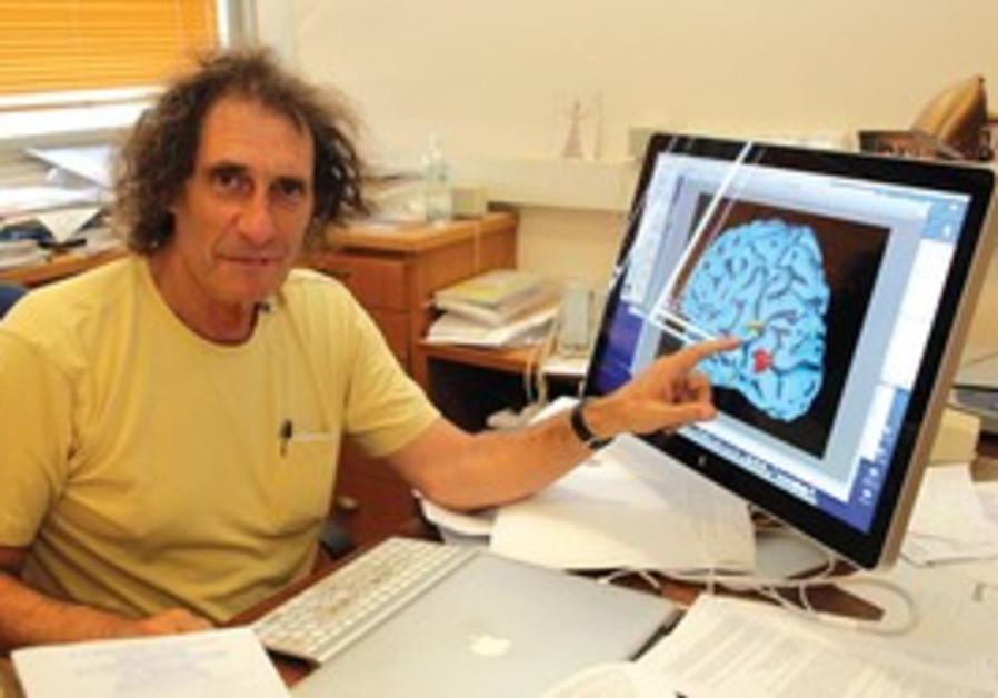 Prof. Idan Segev at his Hebrew University office.