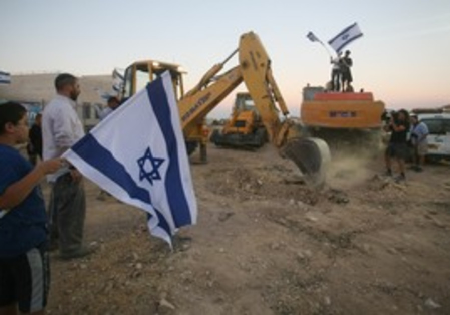 Settlers begin construction in West Bank