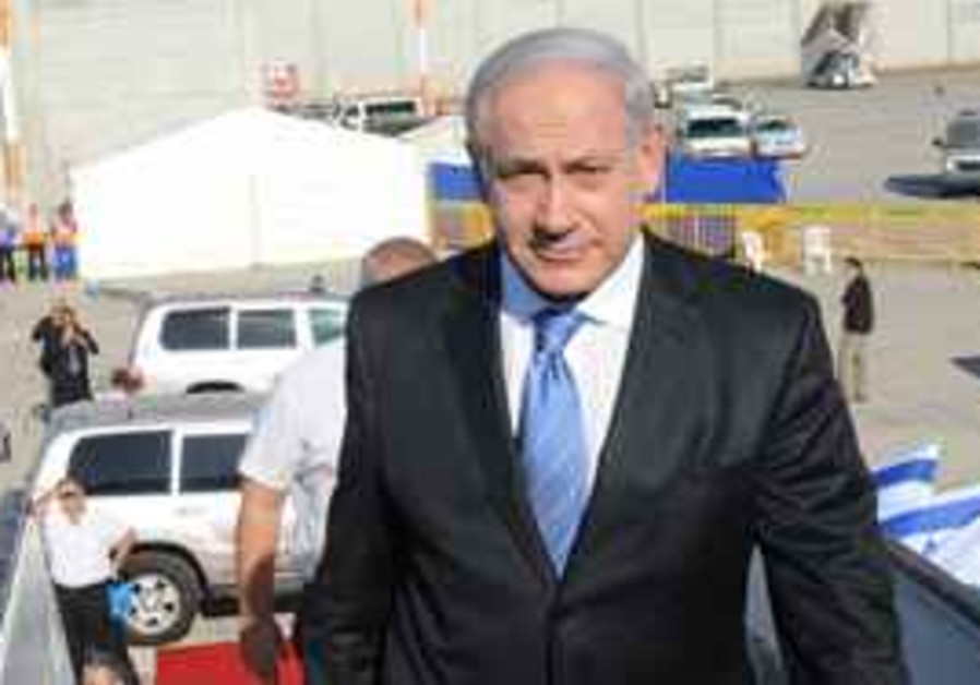 Israeli PM Benyamin Netanyau on the way to Sharm