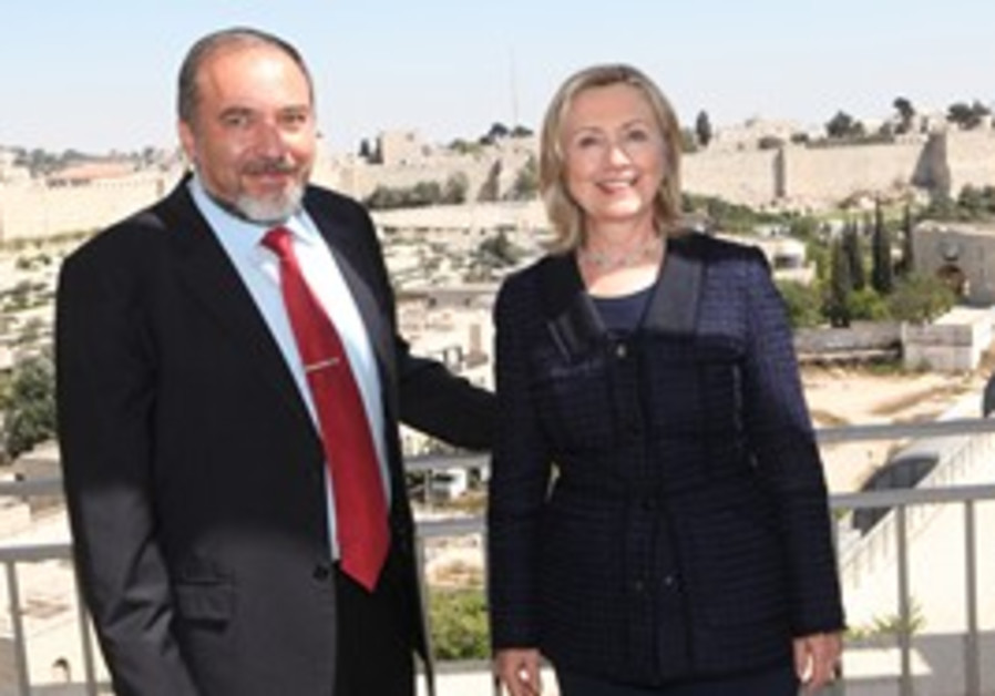 US Sec of State meets FM Lieberman in Jerusalem