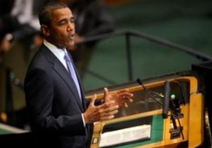 US President Barack Obama at UN 2010.