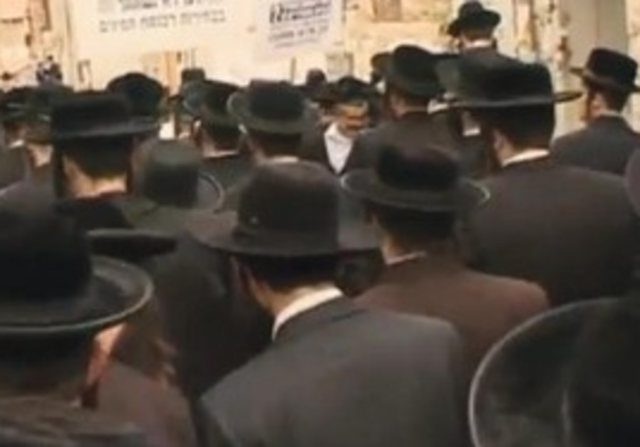 A scene from an episode of 'Haredim'