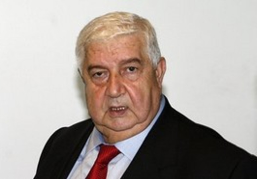 Syria Foreign Minister Walid Moallem