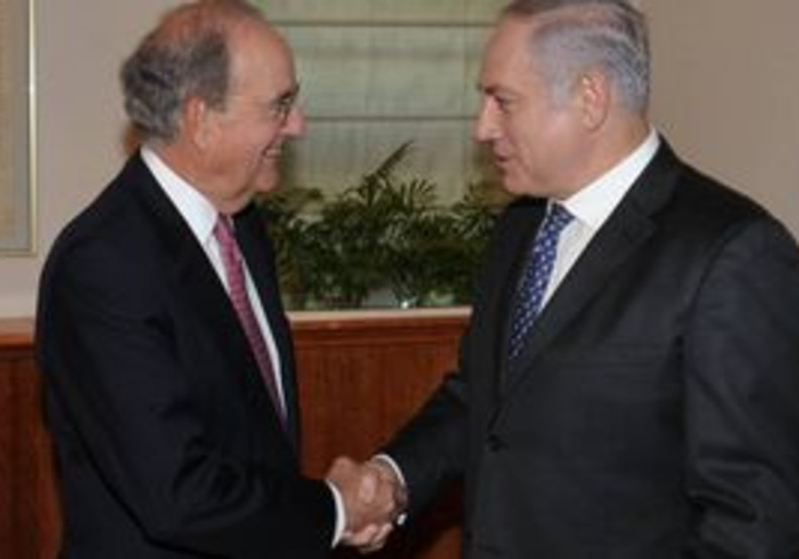 US peace envoy George Mitchell with PM Netanyahu