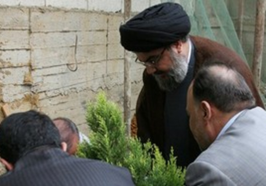 Hizbullah Nasrallah plants tree