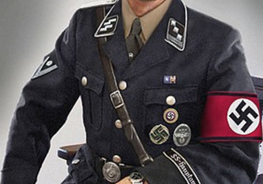 Nazi uniform with swastika armband.