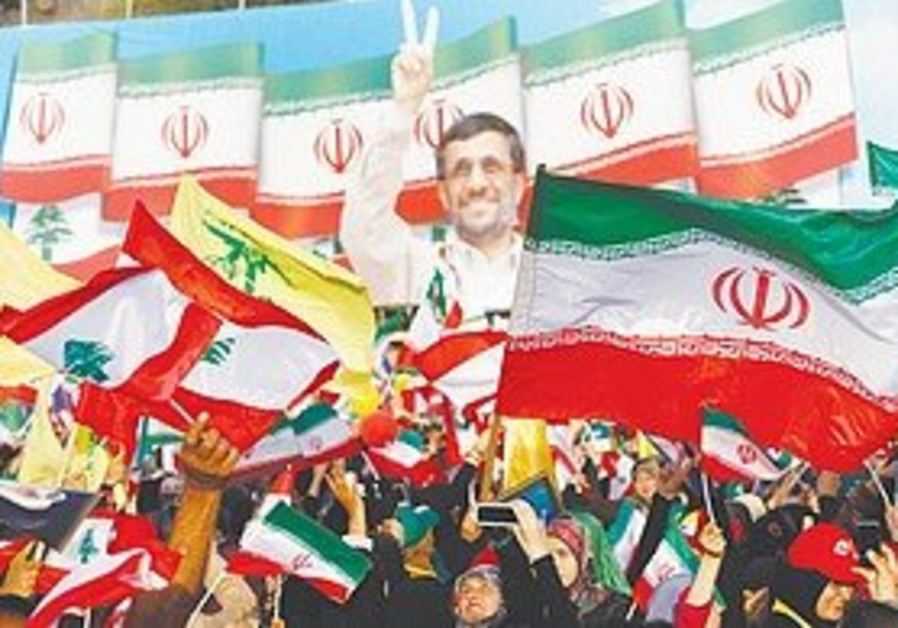 Lebanese citizens gather in support of Ahmadinejad