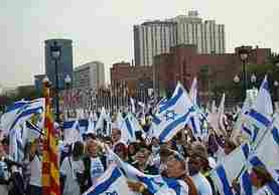 Gilad Schalit rally in Barcelona, Spain.