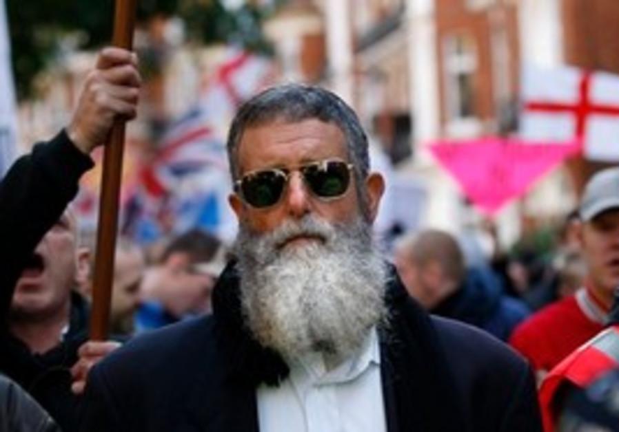 Rabbi Nachum Shifren at EDL rally