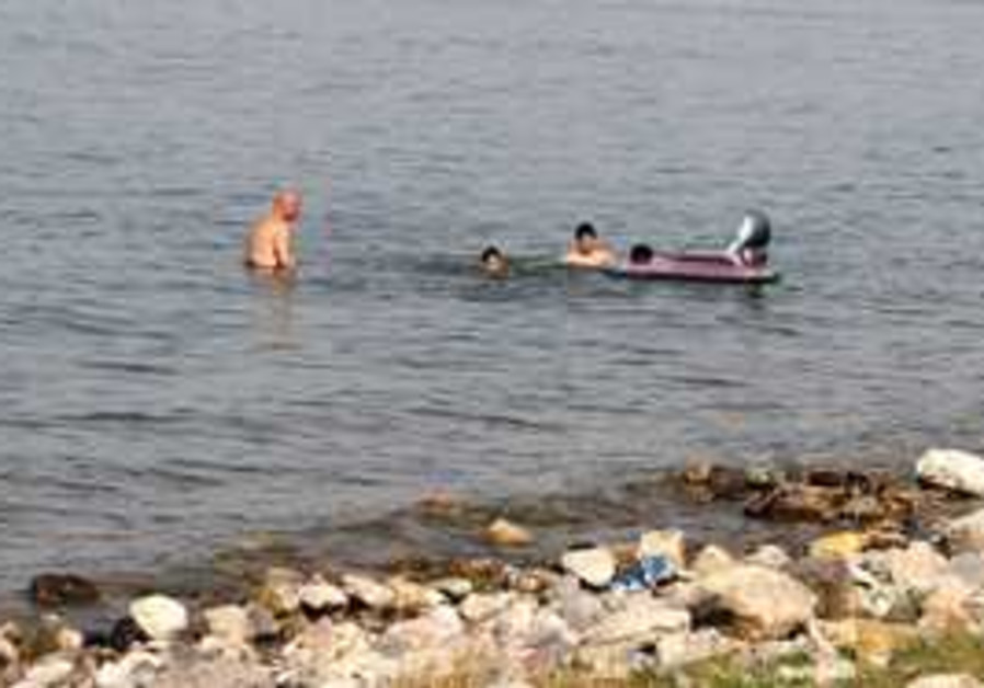 LAKE KINNERET'S water levels are five meters from
