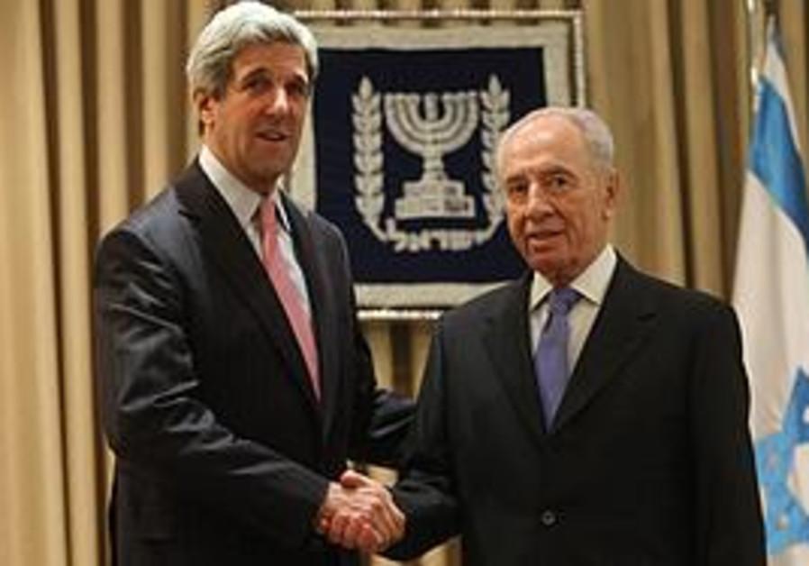 President Peres with Senator Kerry