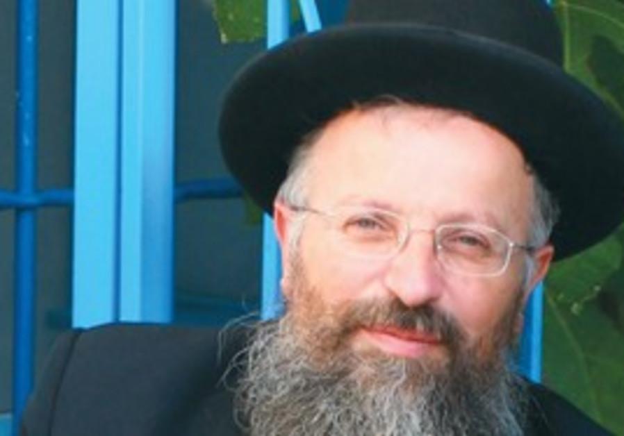 RABBI SHMUEL Eliyahu, chief rabbi of Safed.