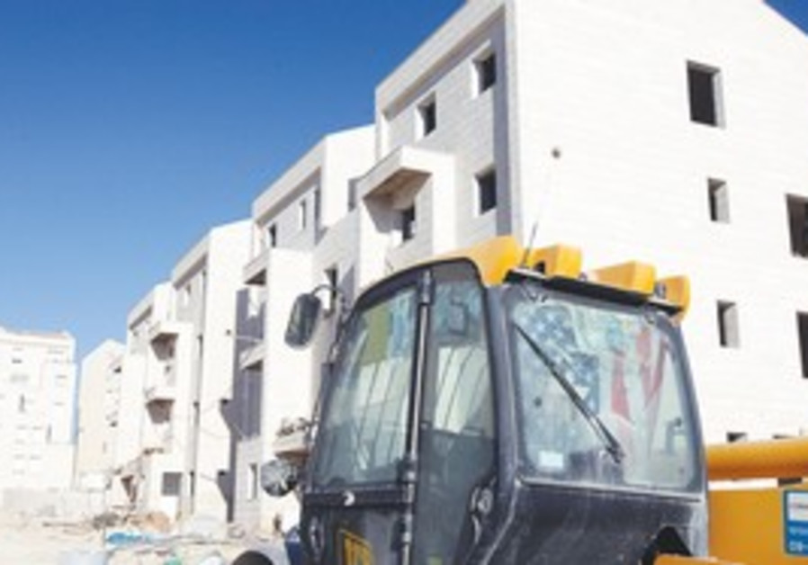 Apartment construction in Givat Ze'ev
