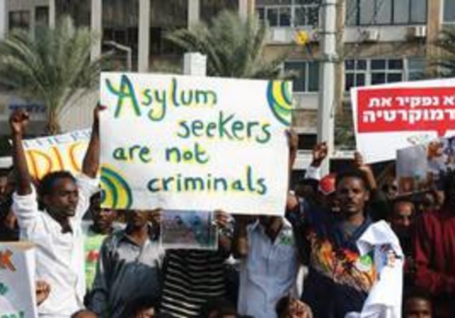 Eritrean Protestors