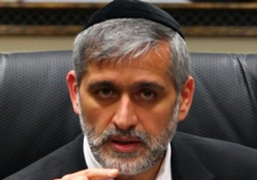 Interior Minister Eli Yishai.