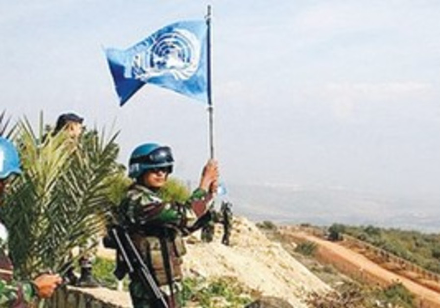 UNIFIL peacekeepers at the Israel-Lebanon border.