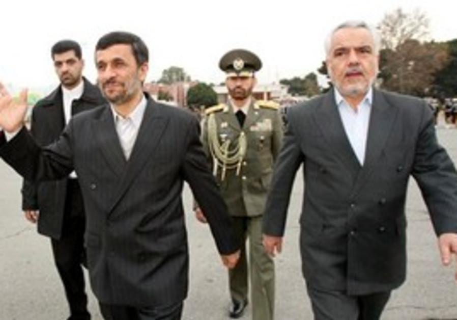 Iranian VP Mohammad Reza Rahimi with Ahmadinejad