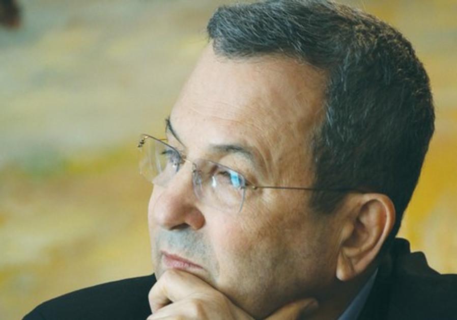 Defense Minister Ehud Barak.