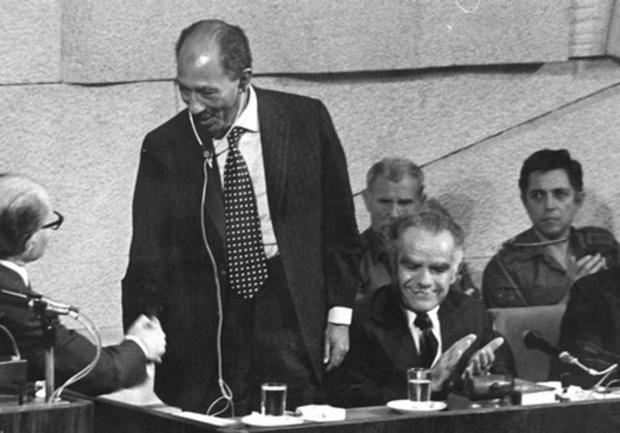 Sadat at Knesset