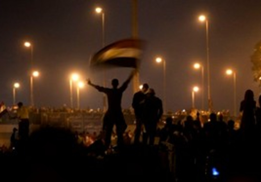 Egytpians celebrate Mubarak's resignation