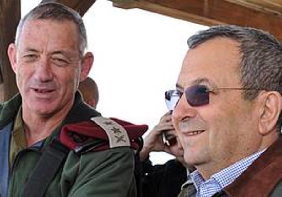 Benny Gantz and Ehud Barak