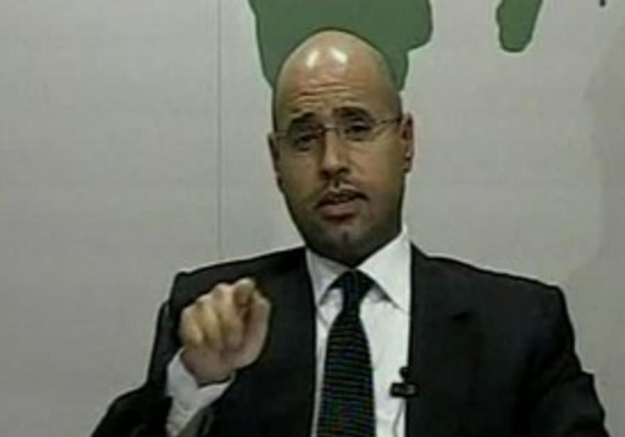 Seif al-Islam Gadhafi addresses Libya on state TV