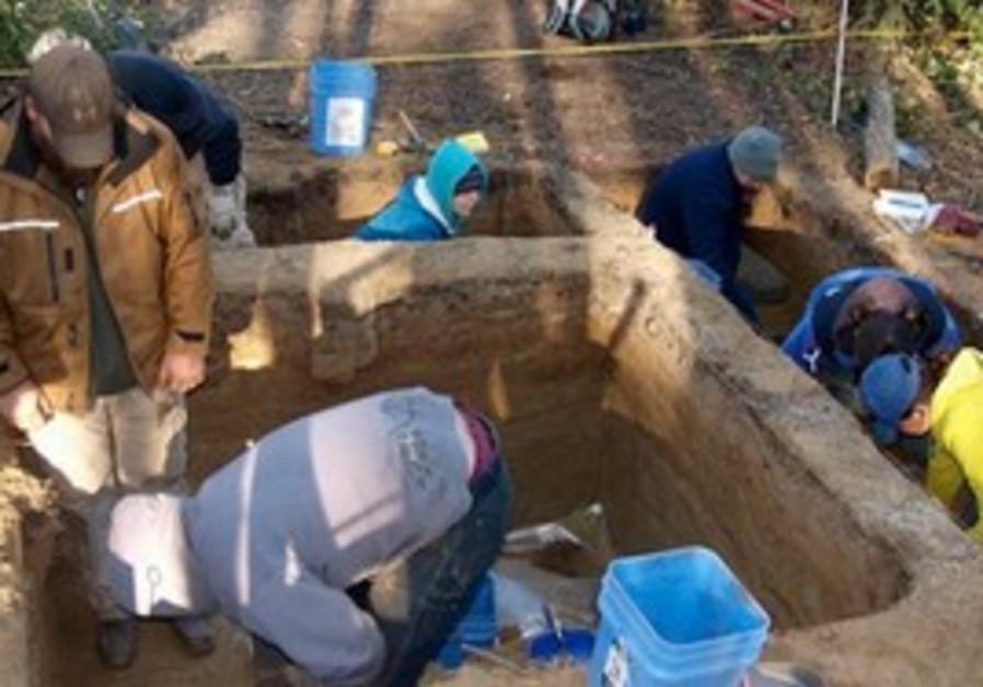 Excavating at site in Alaska