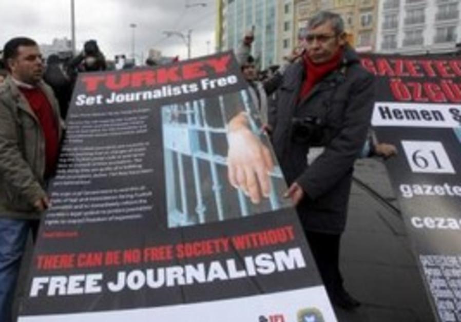 Protests against Journalist' arrest in Turkey