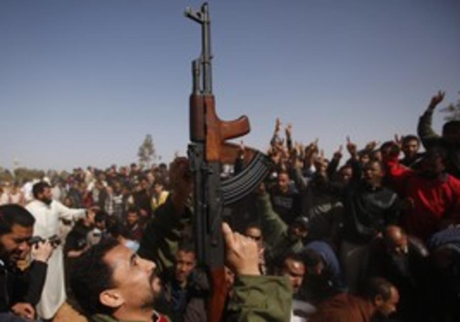 Libya Rebel with Gun