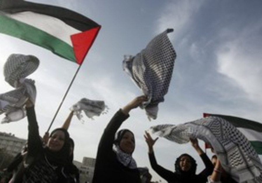 Palestinian women celebrate Nakba day, May 2010.
