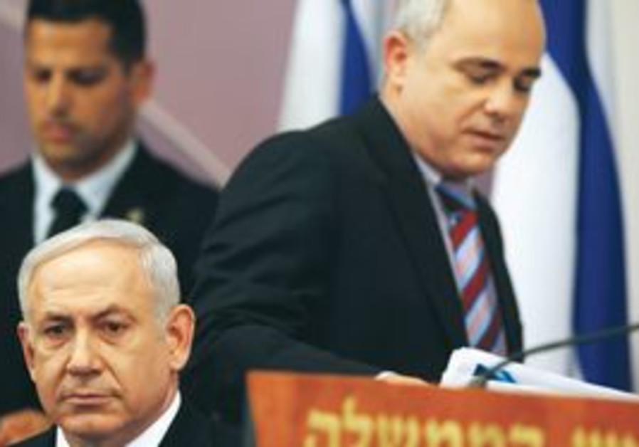 PM Netanyahu and Finance Minister Yuval Steinitz