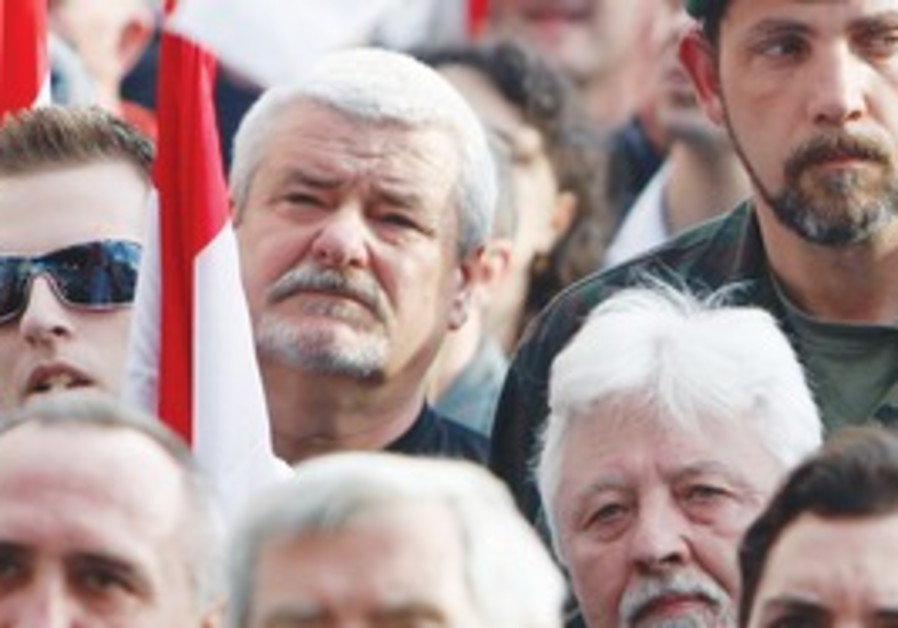 Supporters of the Hungarian radical right-wing