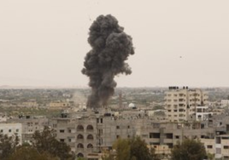 Smoke rises after IAF bombs in Gaza (Illustrative)