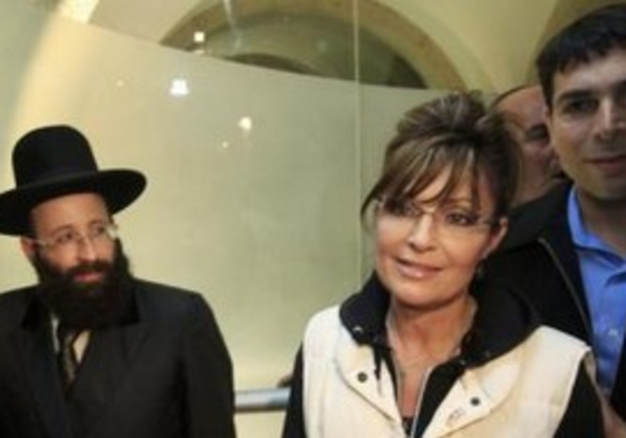 Former Alaska governor Sarah Palin at Kotel