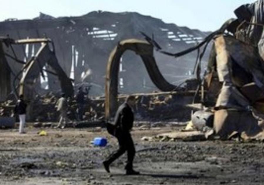 Libyanat naval facility damaged by air strikes