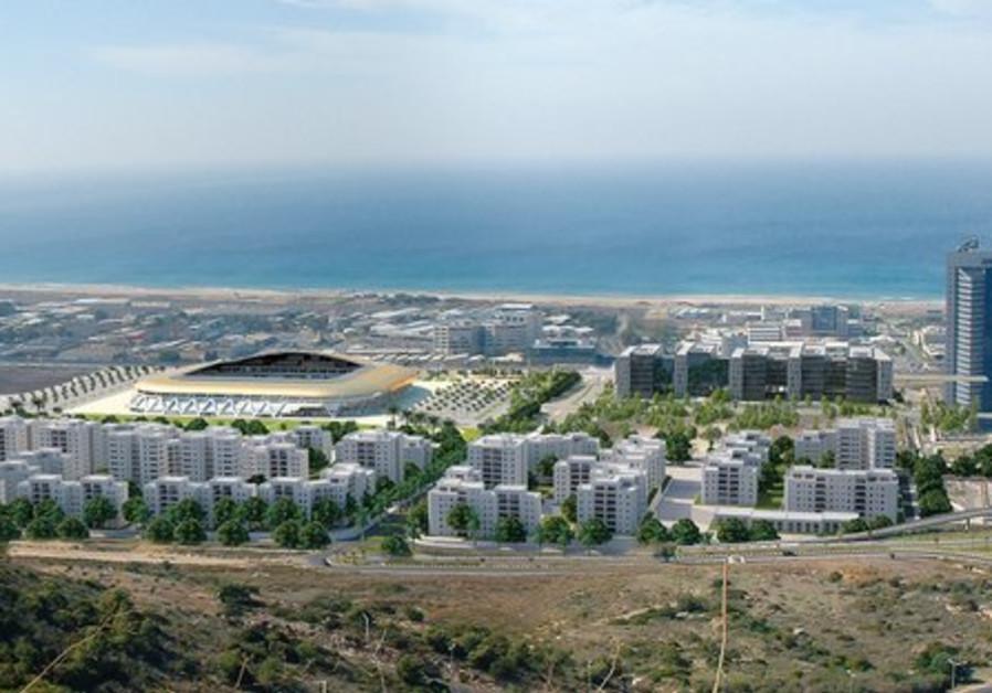 An artist rendition of plans for Haifa