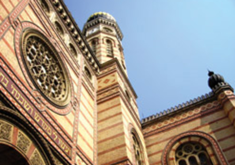 The exterior of Budapest's Central Synagogue