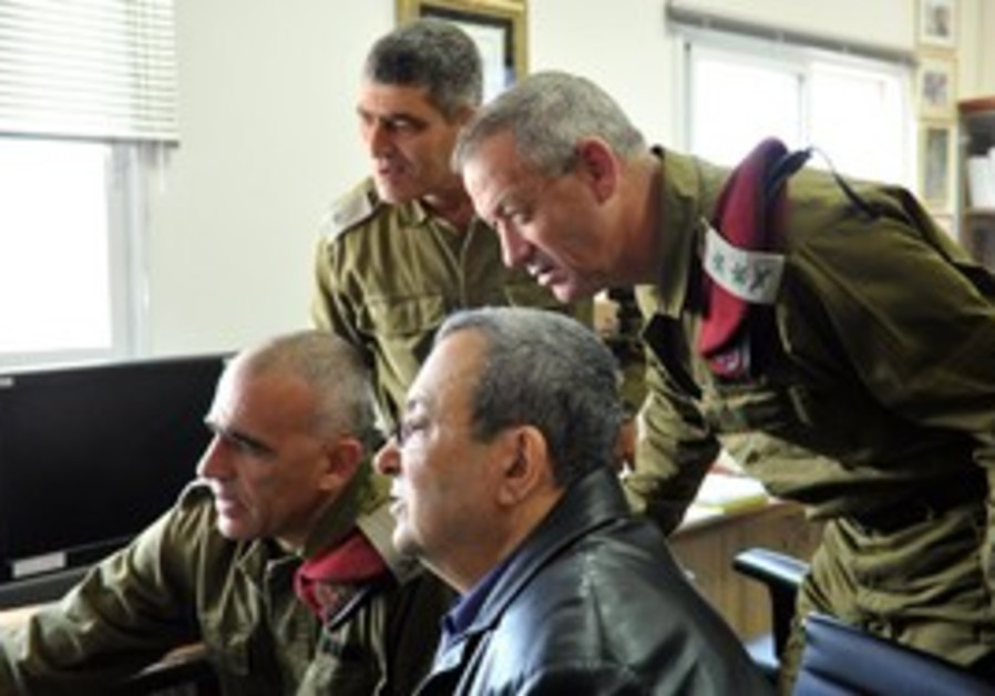 Defense Minister Ehud Barak and Bennie Gantz