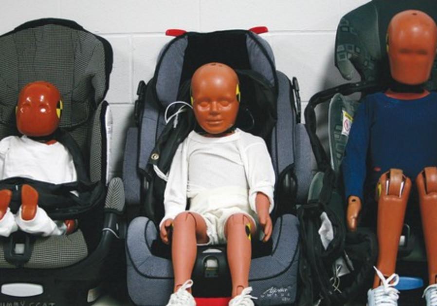 HYBRID III crash test dummies