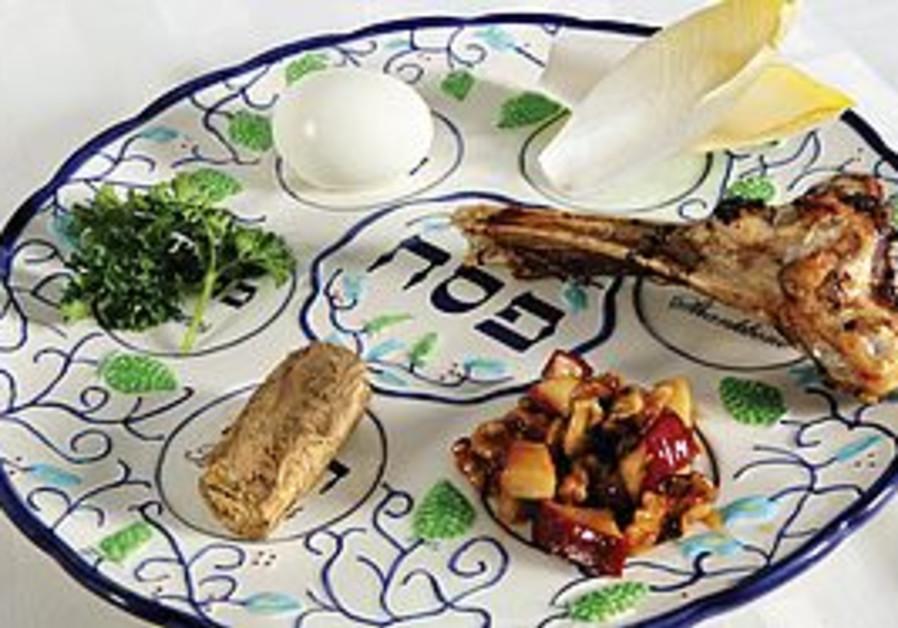 Pessah seder plate