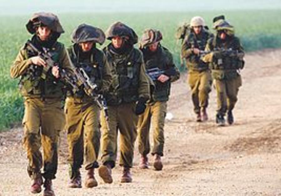 IDF soldiers on patrol