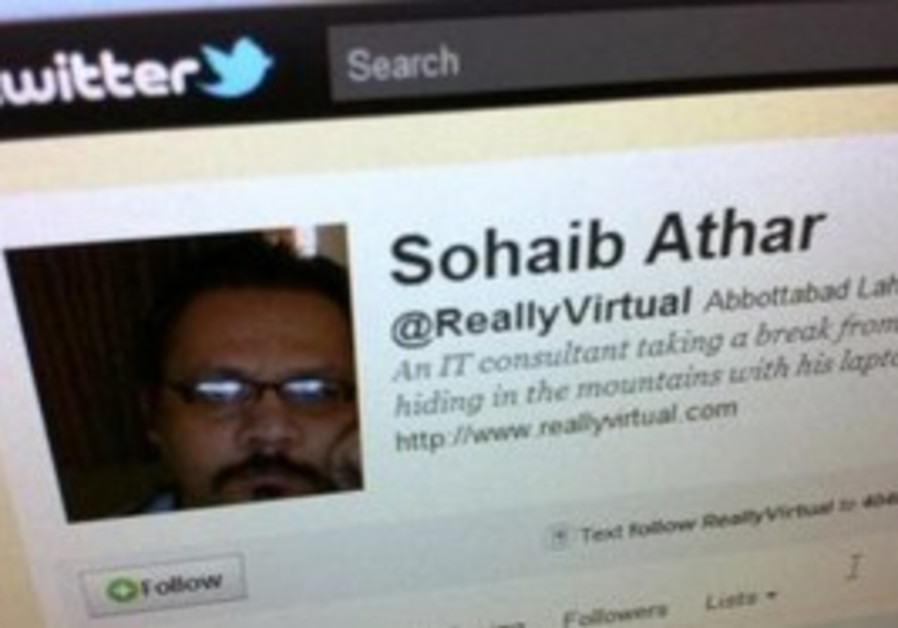 Twitter page of Sohaib Athar