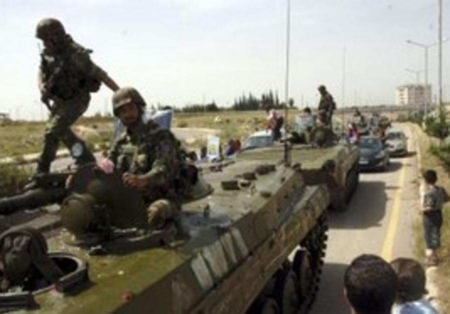Syrian tanks (illustrative).