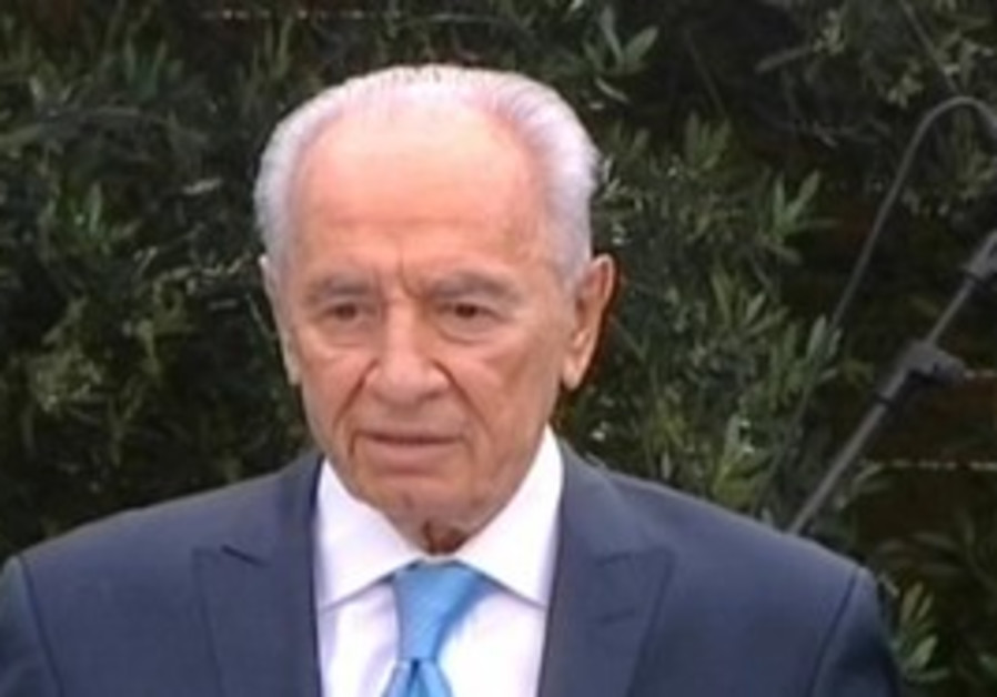 President Peres at Independence Day ceremony