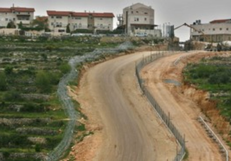A West Bank settlement [illustrative]