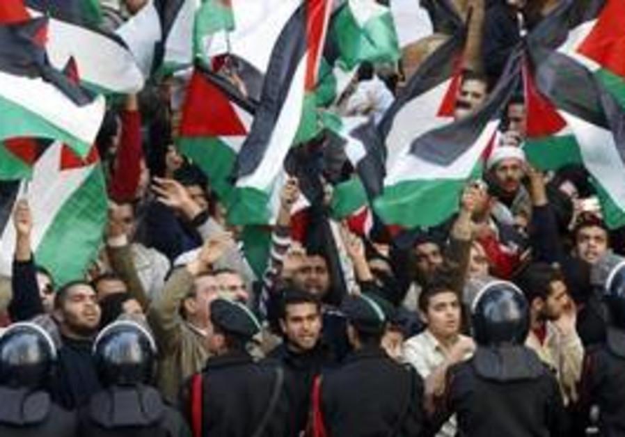 Pro-Palestinian protesters in Cairo [illustrative]