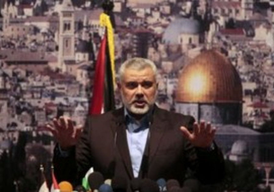 Hamas Prime Minister Ismail Haniyeh in Gaza.