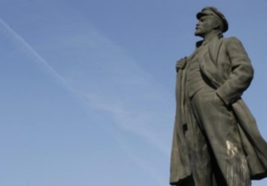 A statue of Vladimir Lenin, Krasnoyarsk, Russia.