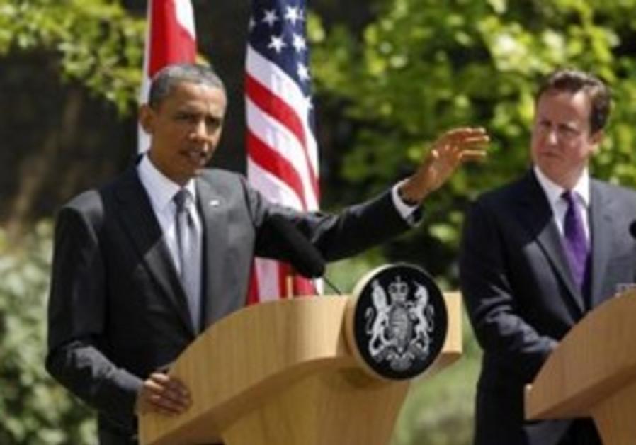 US President Obama with UK PM Cameron