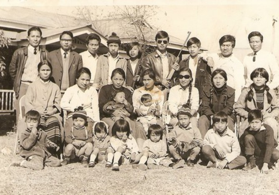 Gangte with family members in Manipur India